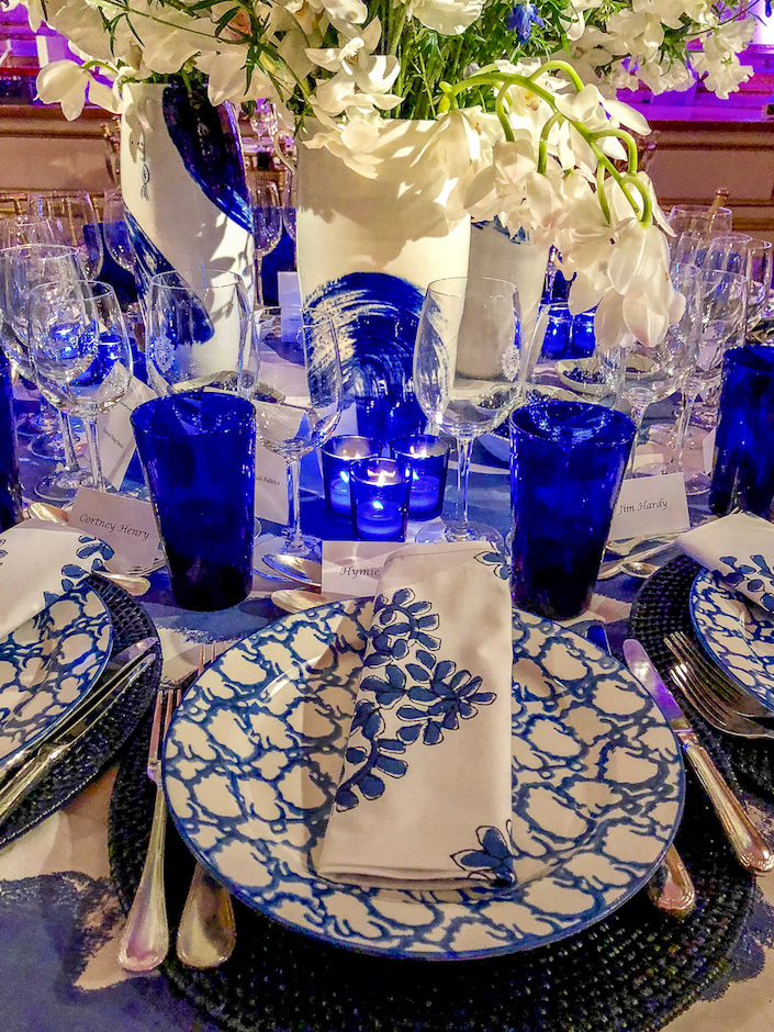 Ford Huniford 2018 NYBG Orchid Dinner table