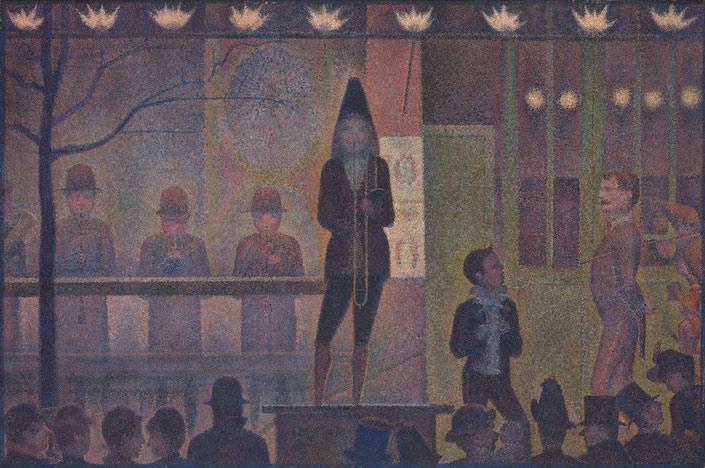 George Seurat Circus Sideshow at the Met Museum