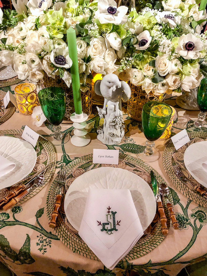 Shelly Johnstone Orchid Dinner 2018 table