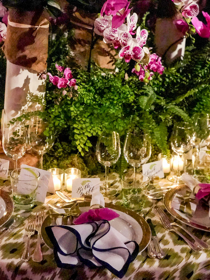 Ashley Whittaker Orchid Dinner table