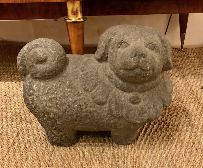 Japanese Edo dog sculpture at James Sansum