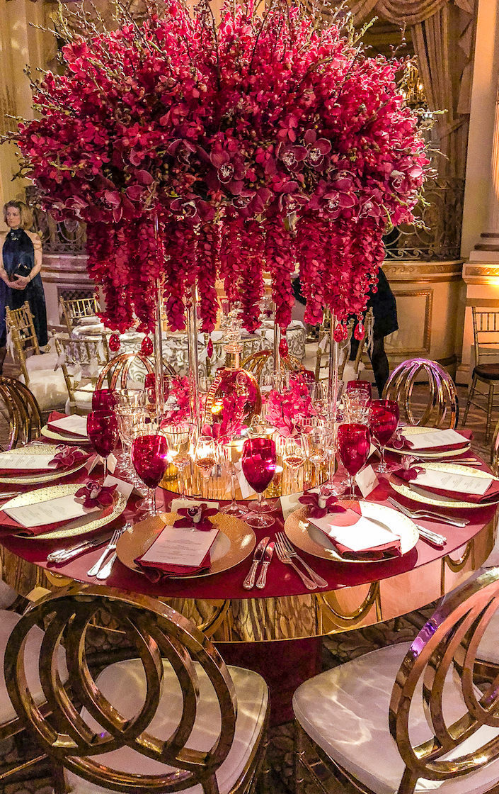 Louis XIII Orchid Dinner table