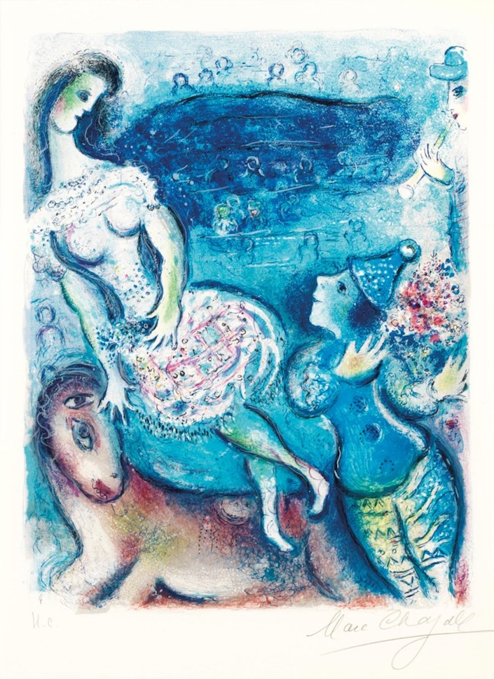 Marc Chagall (1887-1985), Le Cirque, one plate