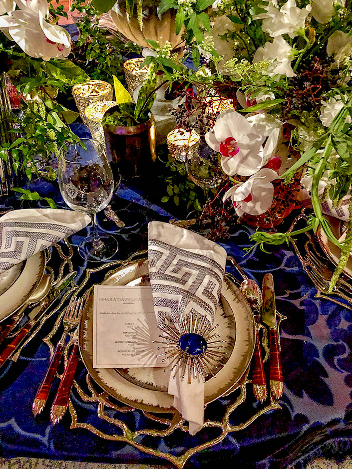 Ohara Davies-Gaetano 2018 NYBG Orchid Dinner table