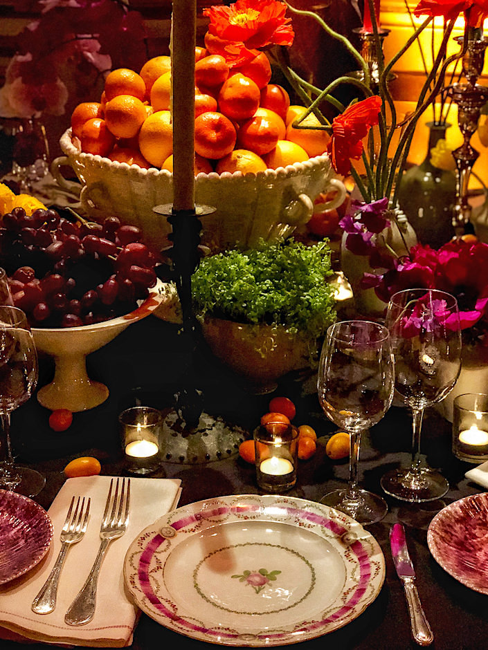 Patrick Mele 2018 NYBG Orchid Dinner table