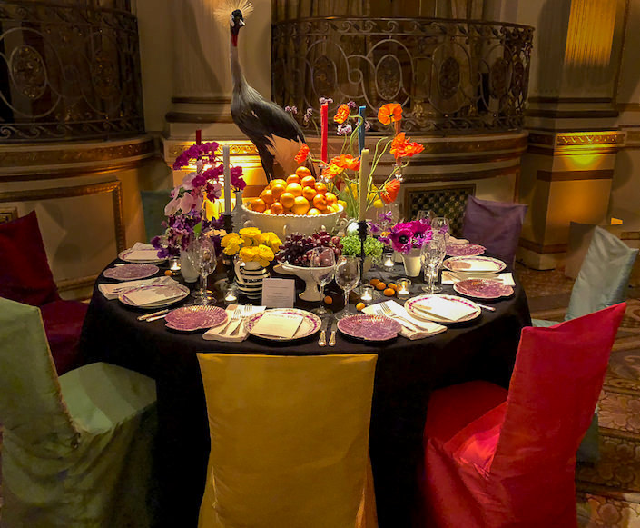 Patrick Mele Orchid Dinner table