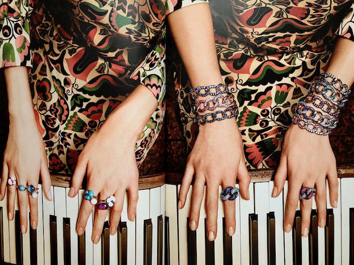 Pomellato Capri, Babia and Tango bracelets and rings