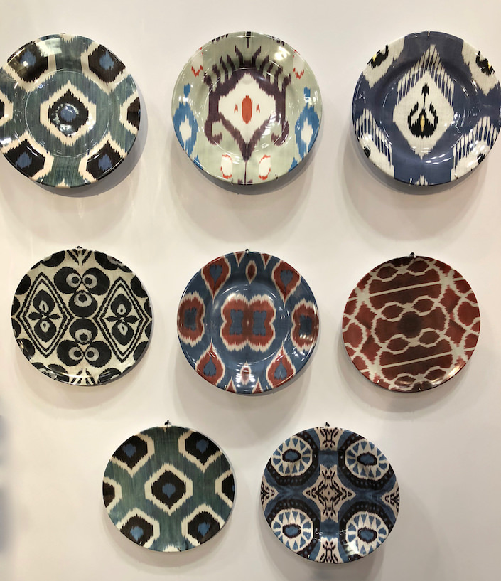 les ottomans ikat plates at NY Now 2018