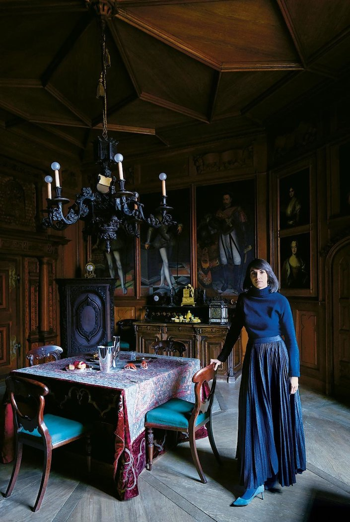 Alice Liechtenstein at Schloss Hollenegg, a historic castle in Austria, photo Simon Watson for T Magazine