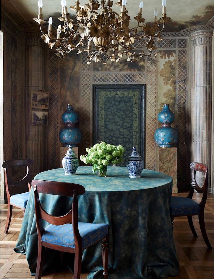 Dining Room by Studio Peregalli. photo Simon Upton for ELLE DECOR