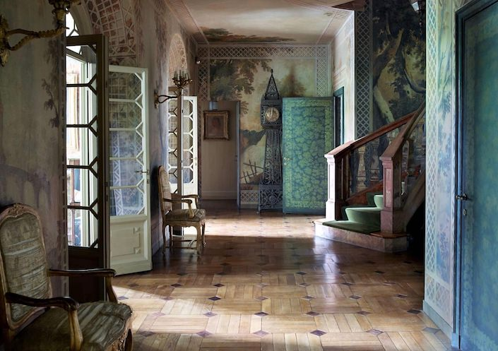 Entry Hall by Studio Peregalli. photo Simon Upton for ELLE DECOR