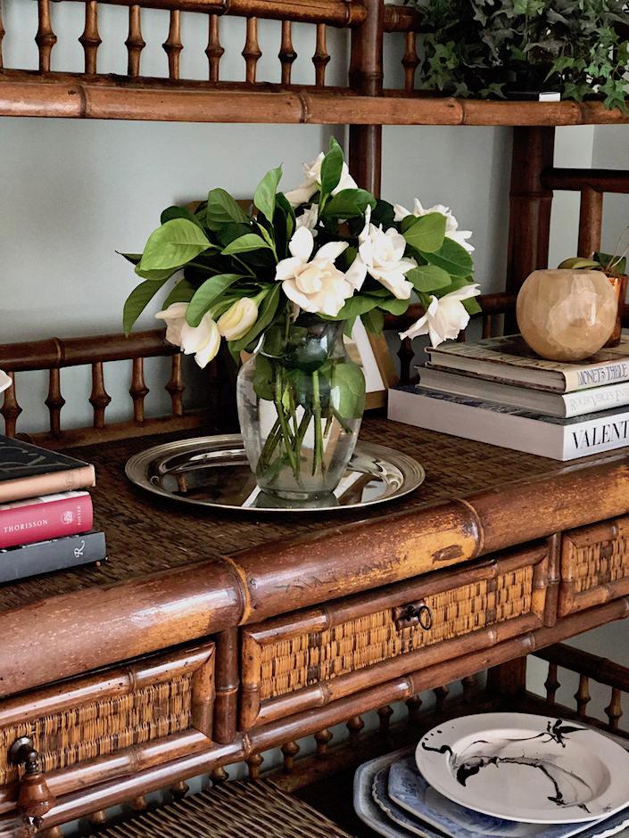 High Camp Supply Gardenias arrangement