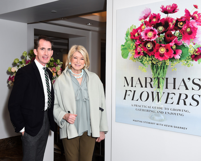 Kevin Sharkey and Martha Stewart
