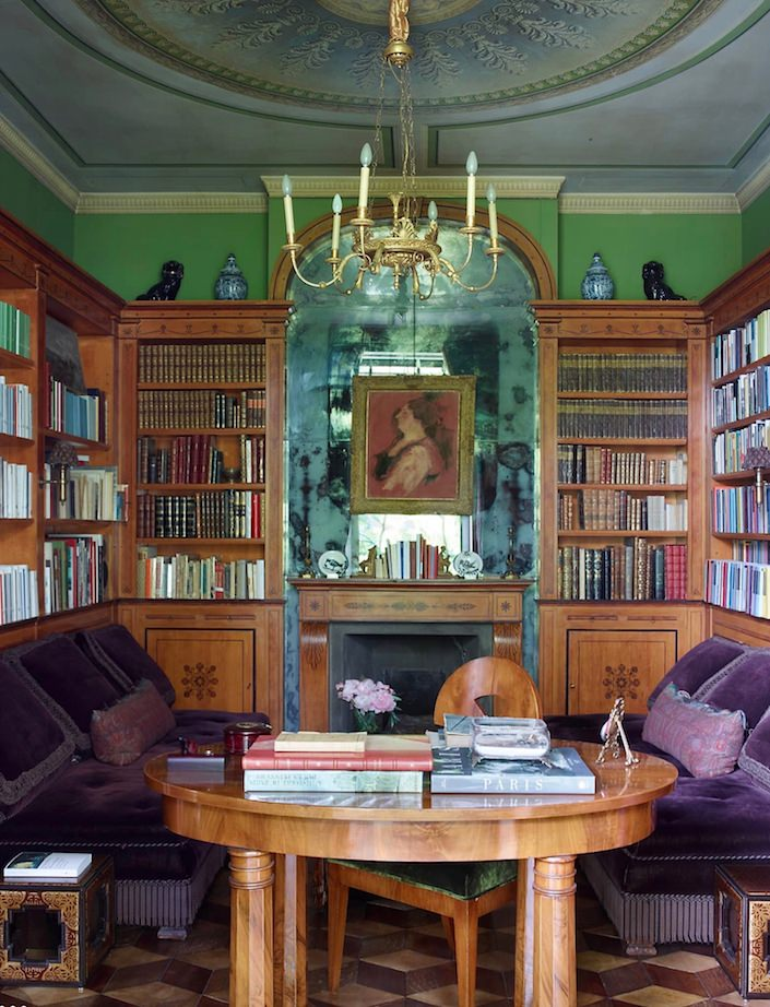 Library by Studio Peregalli. photo Simon Upton for ELLE DECOR