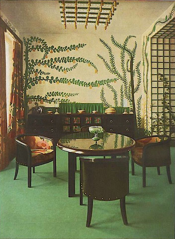 Paul Poiret designed dining room