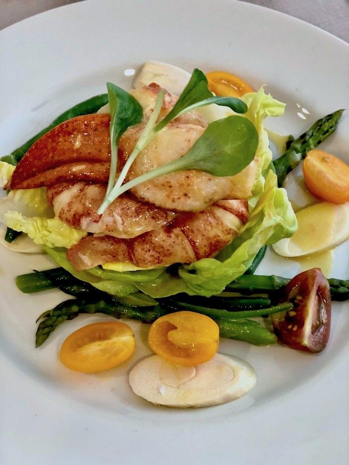 lobster salad at Christie's Martha Stewart lunch