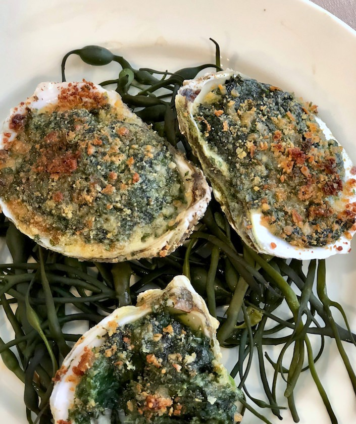 oysters Rockefeller at Christie's Martha Stewart lunch