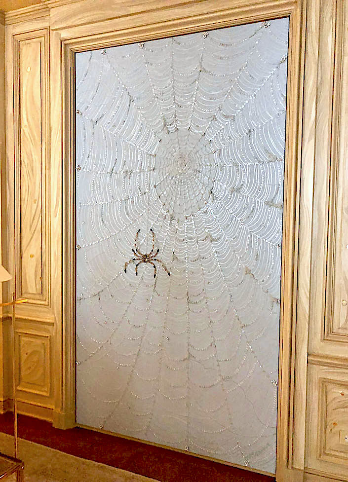 Art Groove spider art in Bunny Williams Kips Bay living room