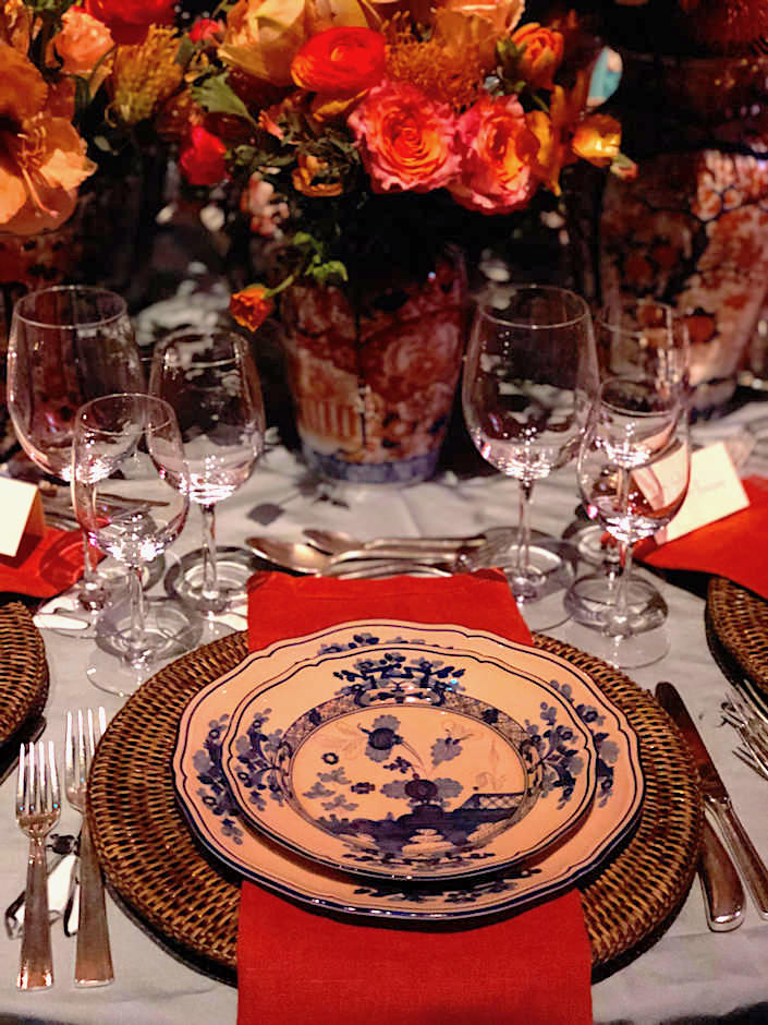 Ginori china on Jared Hughes Lenox Hill table