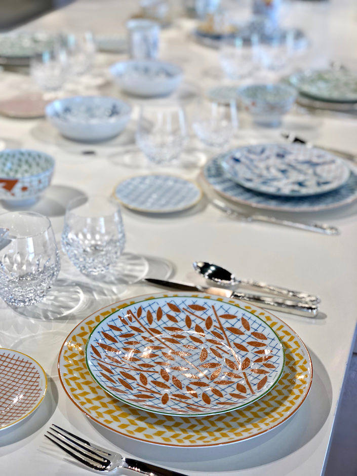 Hermes a Walk in the Garden dinnerware