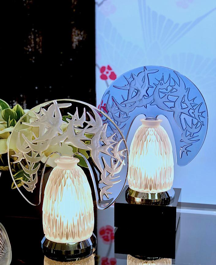 Lalique Hirondelles lamps