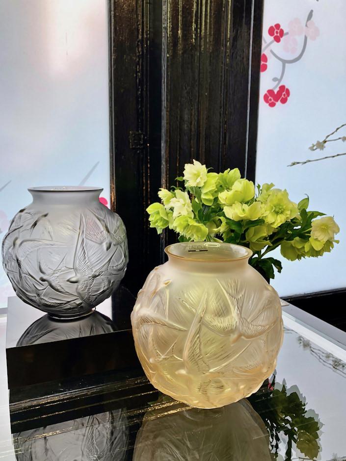 Lalique Hirondelles vase