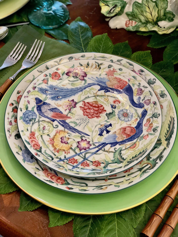 Mottahedeh Sylvanae dinnerware