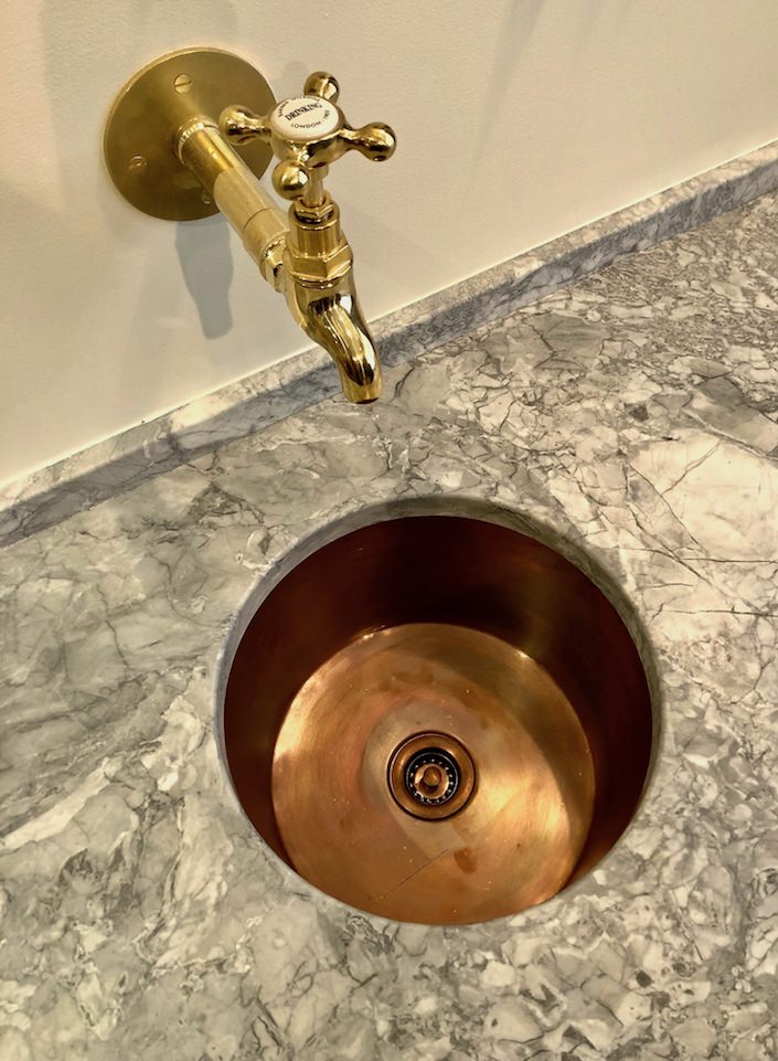 Plain English copper sink