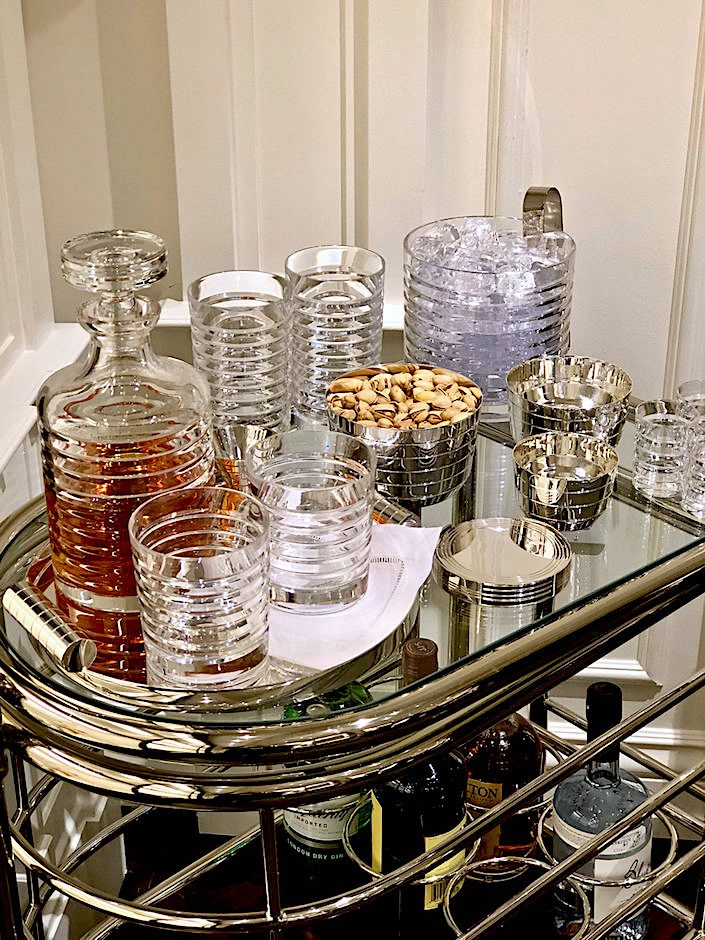 Ralph Lauren Home Montgomery Nut Bowls and Medium Nesting Tray and Metropolis Crystal Barware