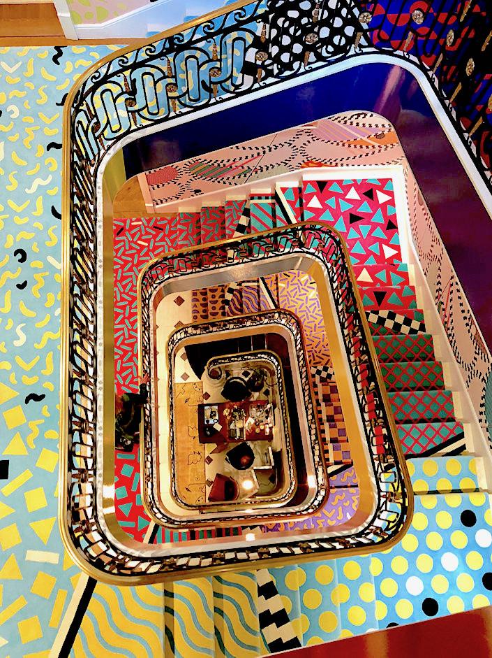 Sasha Bikoff Kips Bay staircase