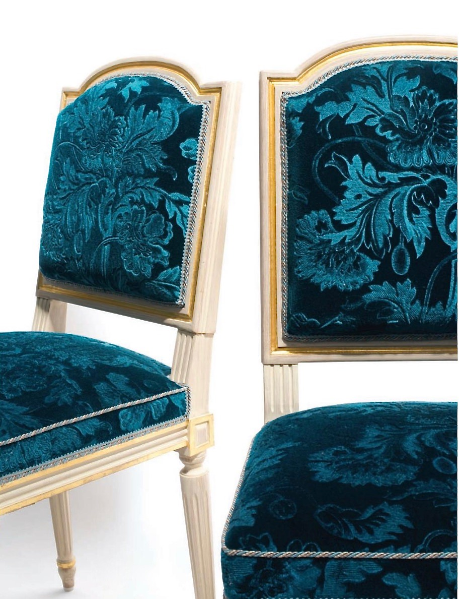 pair of Louis XVI style chairs from Ritz auction-1