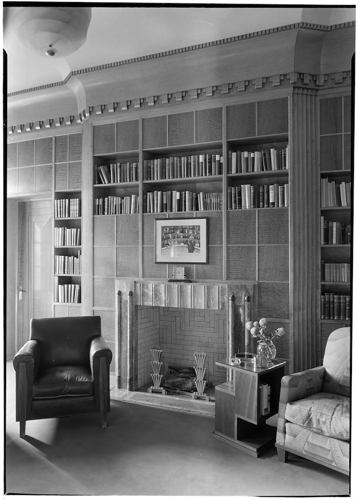 Jesse Isidor Strauss Residence, 720 Park Avenue. Library.