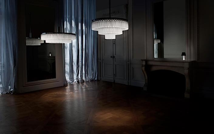 Orgue chandeliers by Studio Andree Putnam for Lalique