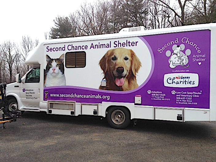 Second Chance Boston adoption van for Bow Wow Blitz
