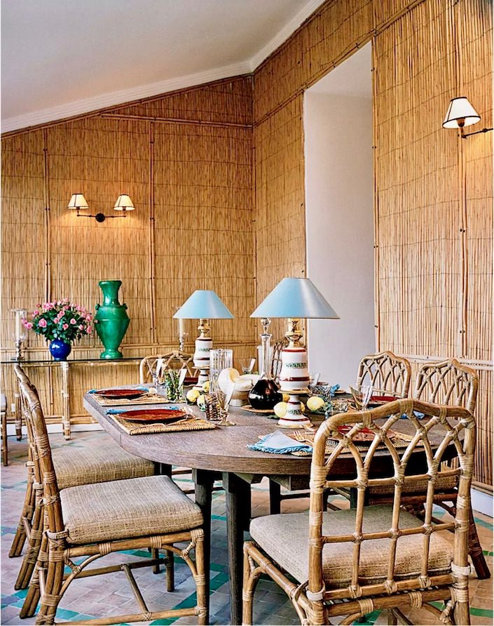Pierre Berge and Yves Saint Laurent Villa Mabrouka, photo Francois Halard for T Magazine