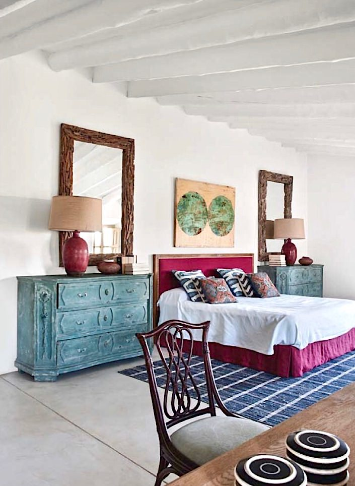 Bedroom in house on Mallorca, designed by Ramon Garcia Jurado, photo by Montse Garriga Grau for House & Garden UK