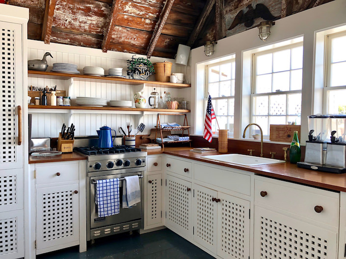 Boathouse kitchen details