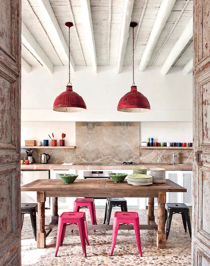 Kitchen in house on Mallorca, designed by Ramon Garcia Jurado, photo by Montse Garriga Grau for House & Garden UK