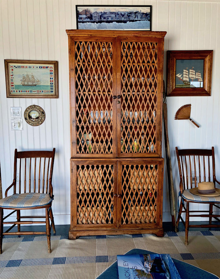 Nantucket boathouse bar cabinet