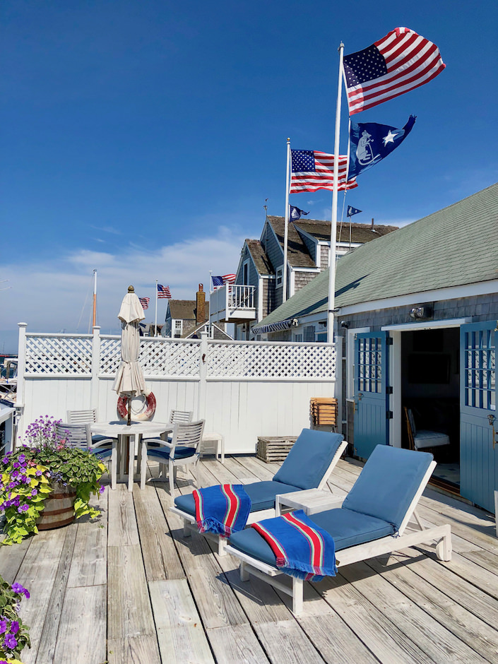 Nantucket boathouse deck