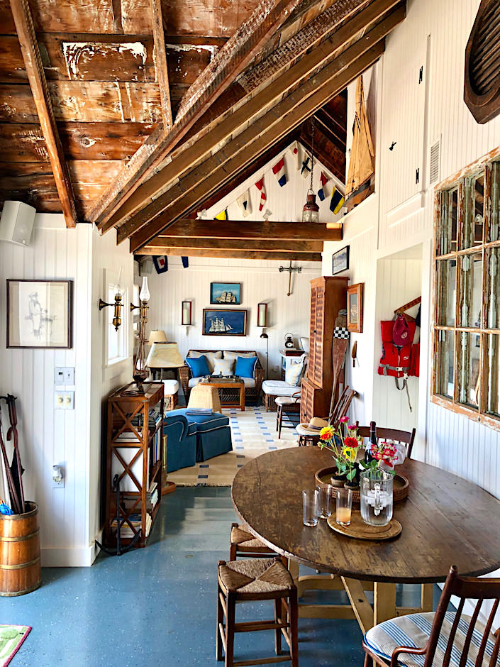 Nantucket boathouse interior