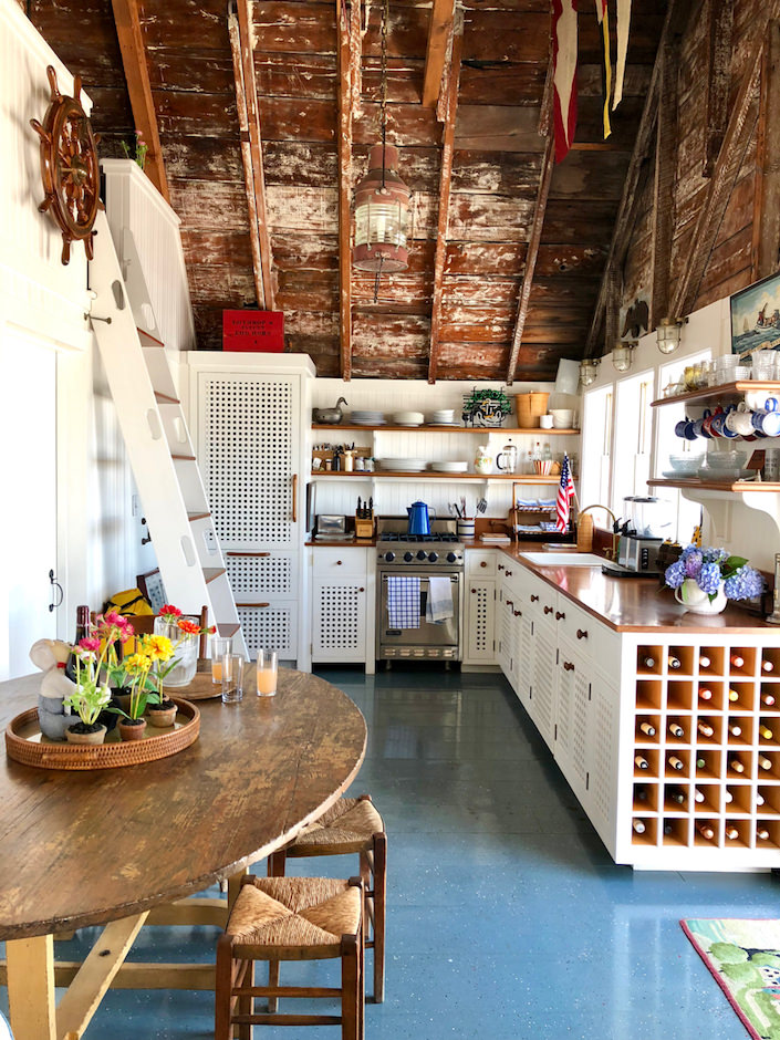 Nantucket boathouse kitchen