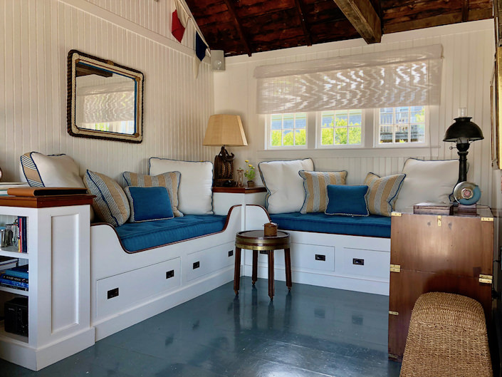 Nantucket boathouse seating