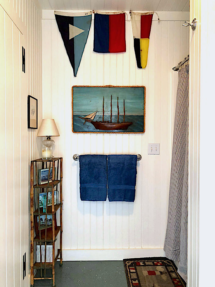 Nantucket boathouse signal flags