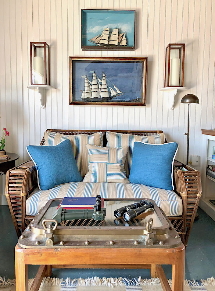 Nantucket boathouse vignette