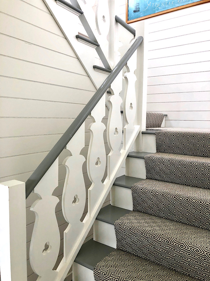 Nantucket guest house balusters