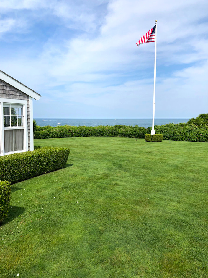 Nantucket guest house lawn