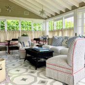 Nantucket guest house living room