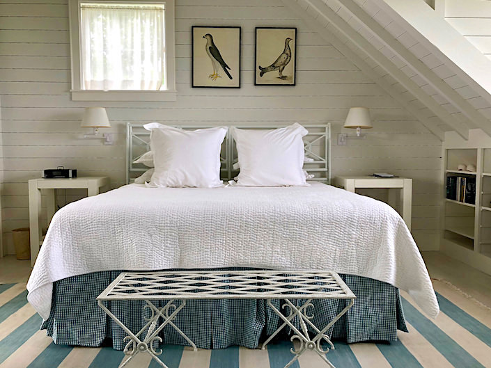 Nantucket guest house master bedroom