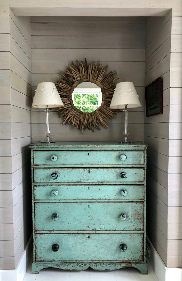 Nantucket guest house painted chest